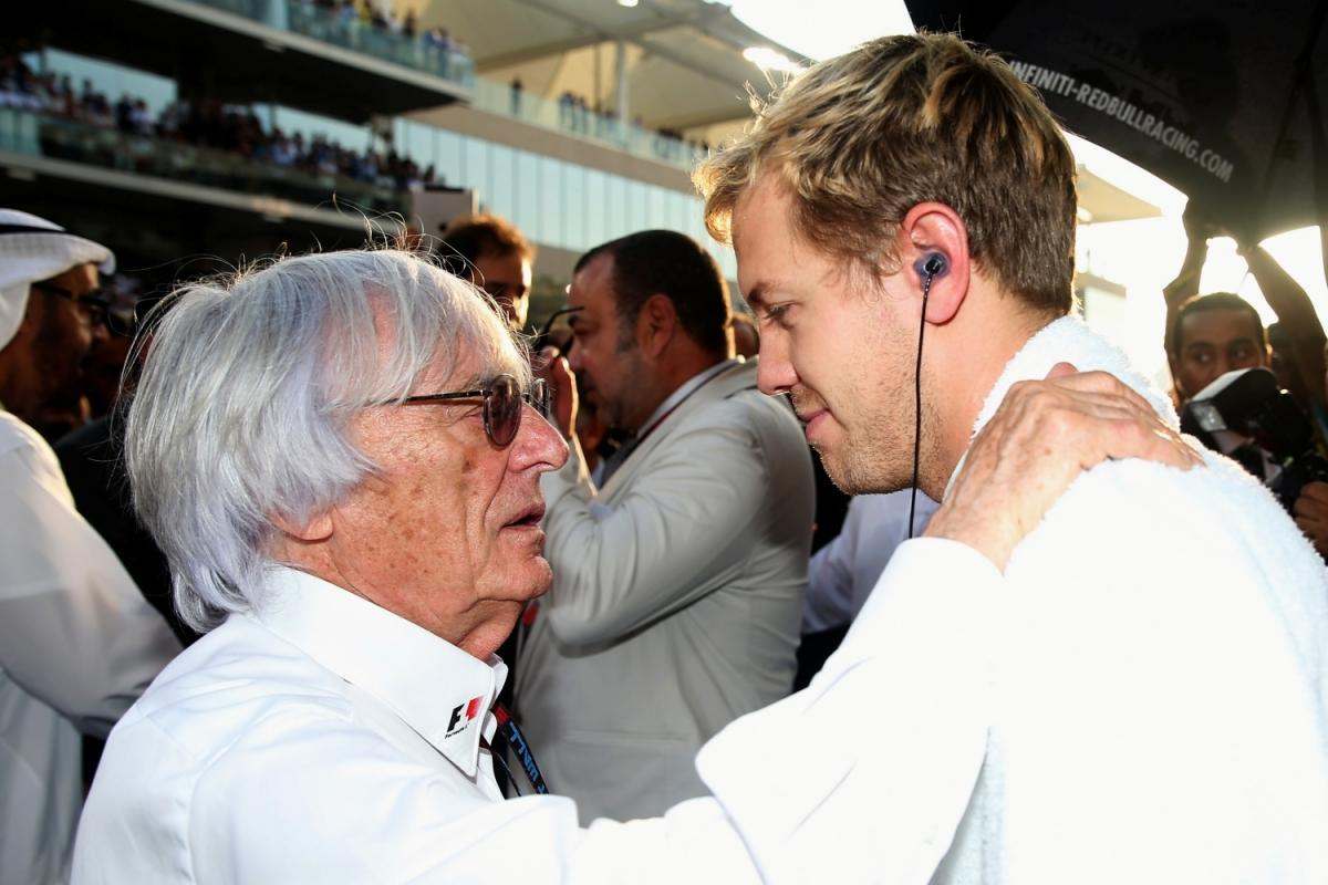 Bernie Ecclestone i Sebastian Vettel / © Getty Images / Red Bull Content Pool
