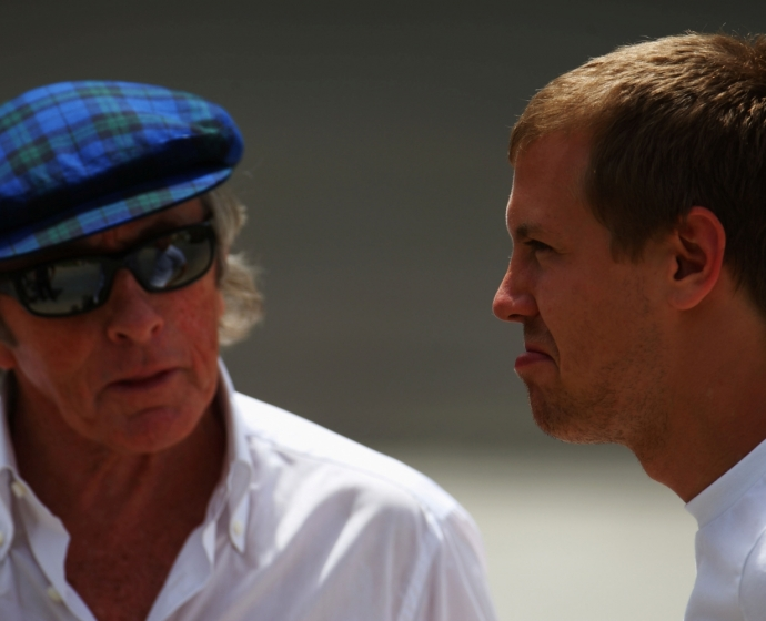 sir Jackie Stewart i Sebastian Vettel / © Getty Images / Red Bull Content Pool